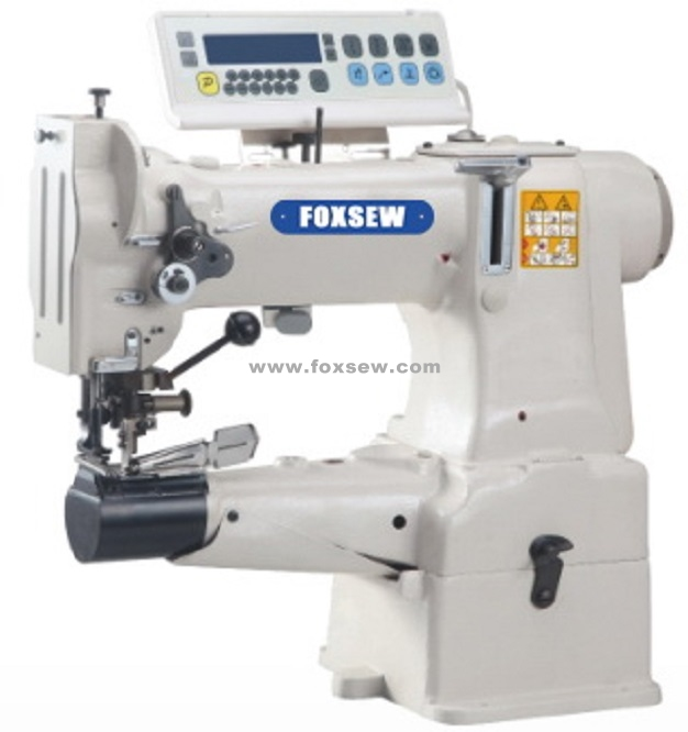 Direct Drive Cylinder Bed Unison Feed Heavy Duty Lockstich Machine with Cutter