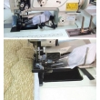 Single Needle Walking Foot Heavy Duty Sewing Machine with Vertical-Axis Large Hook