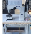 Post Bed Leather Sofa and Auto Upholstery Ornamental Decorative Stitching Machine