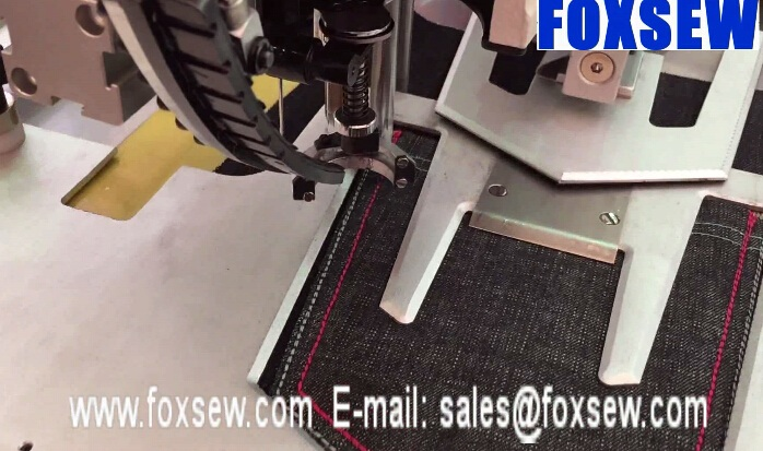 Automatic Jeans Pocket Pattern Sewing Machine
